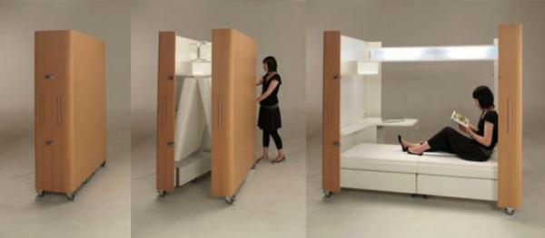 Camas prácticas para dormitorios pequeños - Camas acordeón