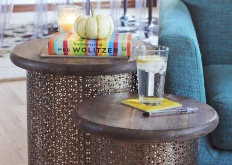 Ideas increíbles para mesas redondas en salones - Mesas redondas laterales