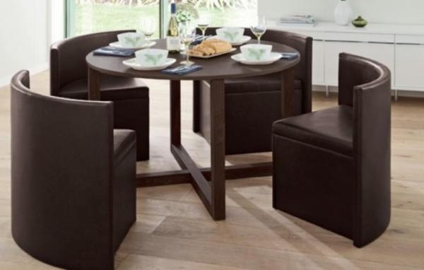 """Ingeniosos muebles para ahorrar espacio - La mesa """"puzzle"""""""