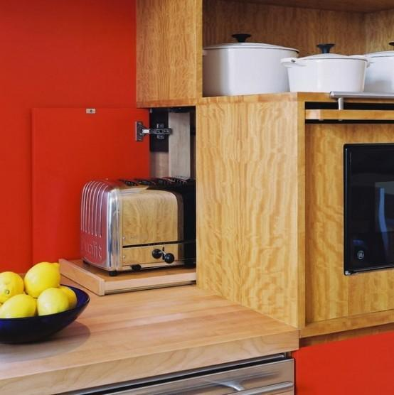 """Ingeniosos muebles para ahorrar espacio - El rincón del desayuno """"escondido"""""""
