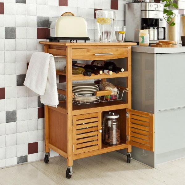 Ingeniosos muebles para ahorrar espacio - Carrito que sirve de mesa auxiliar