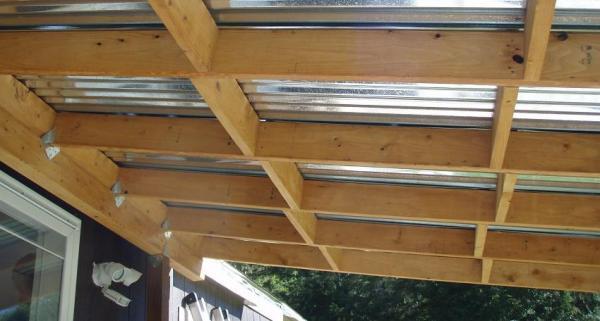 Tipos de techos para terrazas - distintos modelos con fotos - Tejados de metal para la terraza