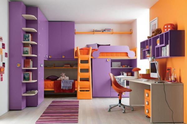 Cómo decorar una casa con el color violeta - grandes ideas - Violeta con amarillo: colores opuestos