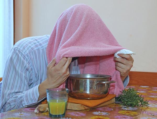 Remedios caseros para la tos de pecho - muy efectivos - Inhalaciones de vapor para despejar las vías respiratorias