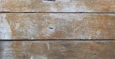 Cómo quitar manchas de humedad en la madera