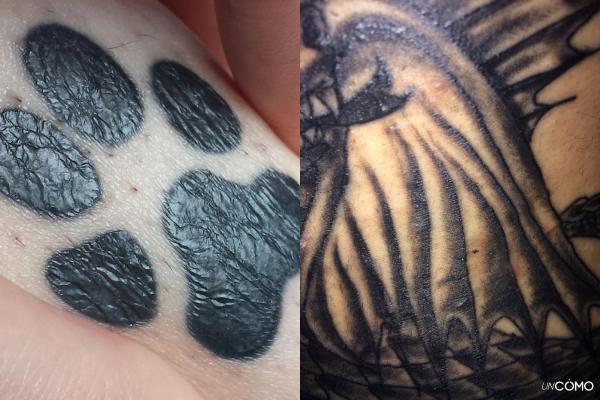 Por qué mi tatuaje se ve arrugado