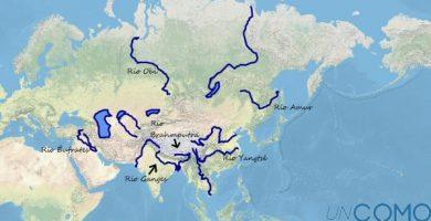 Principales ríos de Asia con mapa