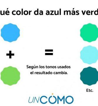 Qué color da azul más verde