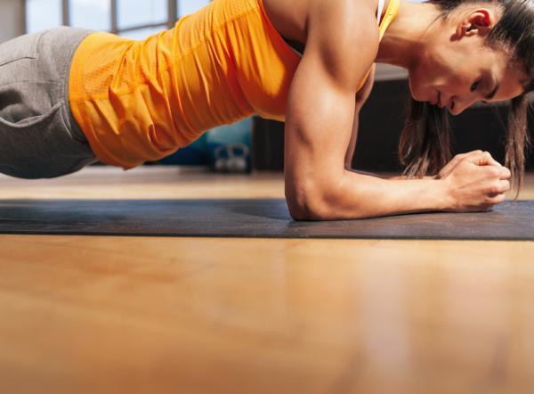 Ejercicios para perder barriga en casa - Plank: ejercicio para hacer en casa