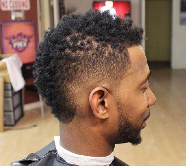 Peinados para pelo afro - hombres - Estilo fade para hombres con el pelo afro