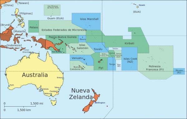 Lista de países y capitales de Oceanía - Lista completa de países y capitales de Oceanía