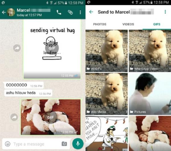 Cómo enviar GIF por Whatsapp - Paso 3