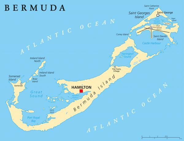 Dónde están las islas Bermudas - con mapa - Dónde están las islas Bermudas