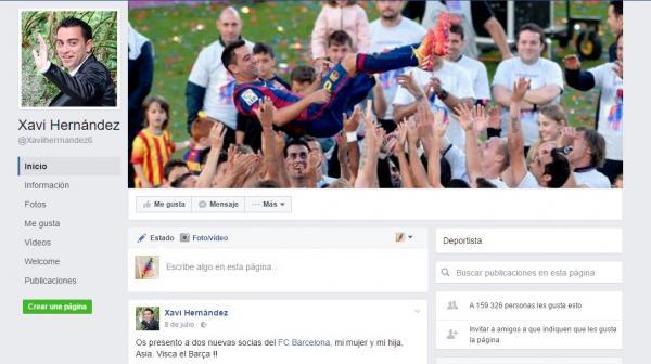 Cómo contactar con Xavi Hernández - Contactar con Xavi Hernández por Facebook