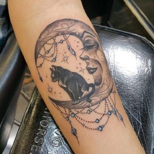 Cuál es el significado de un tatuaje de Luna - Los tatuajes de Luna y gato