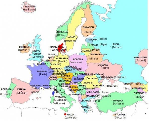 Cuántos países hay en Europa - Países de Europa y sus capitales