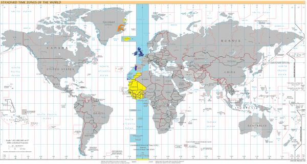 Qué países atraviesan el meridiano de Greenwich - Listado de países que atraviesan el meridiano de Greenwich