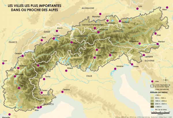 Qué países atraviesan los Alpes - Países que los Alpes atraviesan