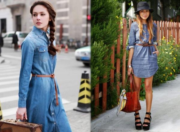 Cómo combinar un vestido vaquero - Paso 2