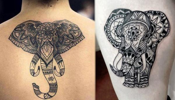 Significado de los tatuajes de elefantes - Representación divina