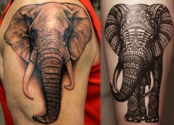 Significado de los tatuajes de elefantes - Los elefantes como sabios