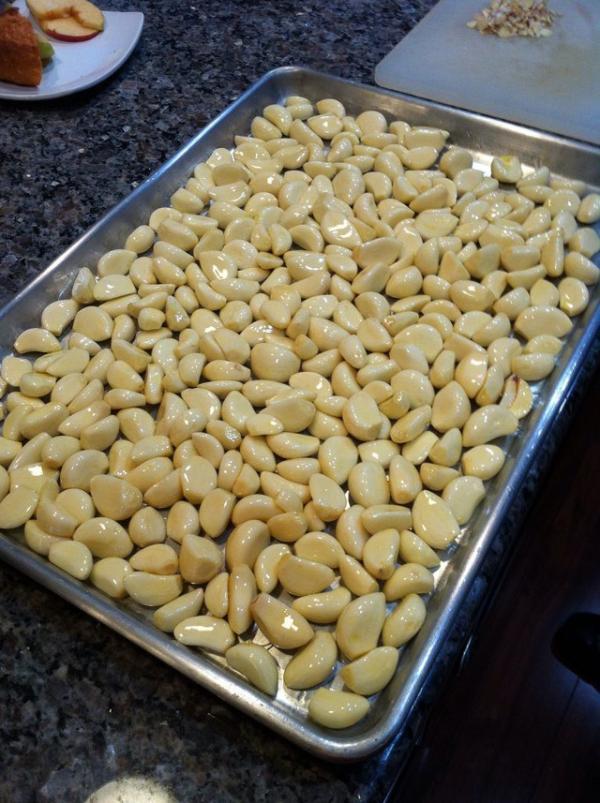 Cómo hacer manteca de ajo asado - Paso 2