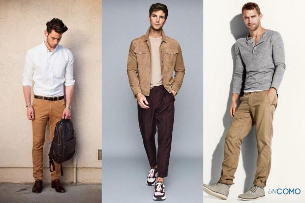 Cómo combinar un pantalón café - Cómo combinar un pantalón café para hombre