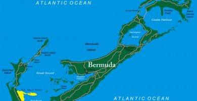 Dónde están las islas Bermudas - con mapa