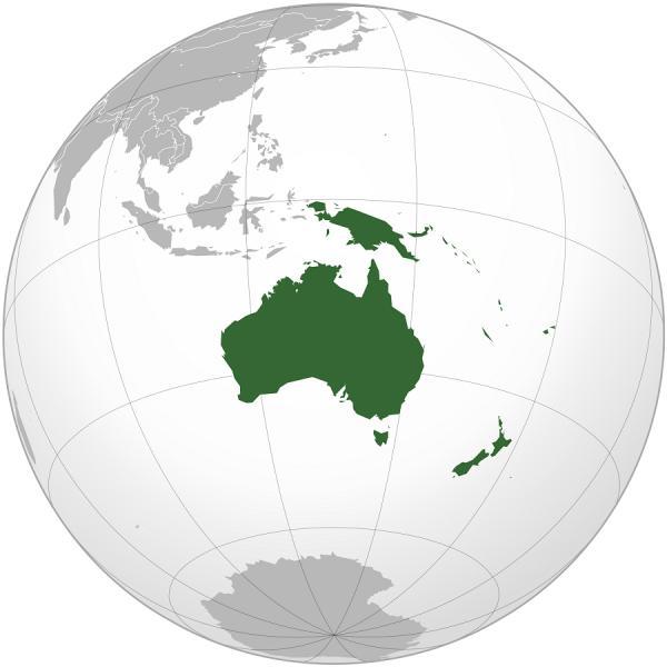 Lista de países y capitales de Oceanía