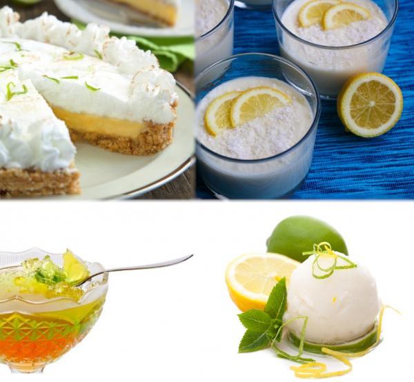 Recetas de postres con limón